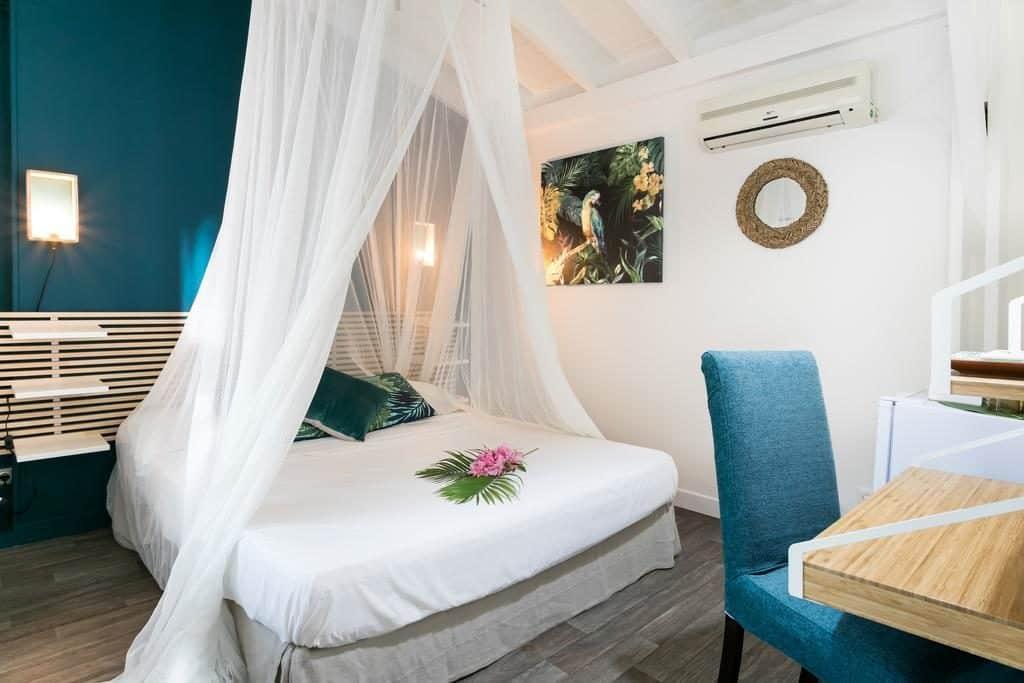 Hevea Hotel na região de Grand Case, parte francesa da ilha