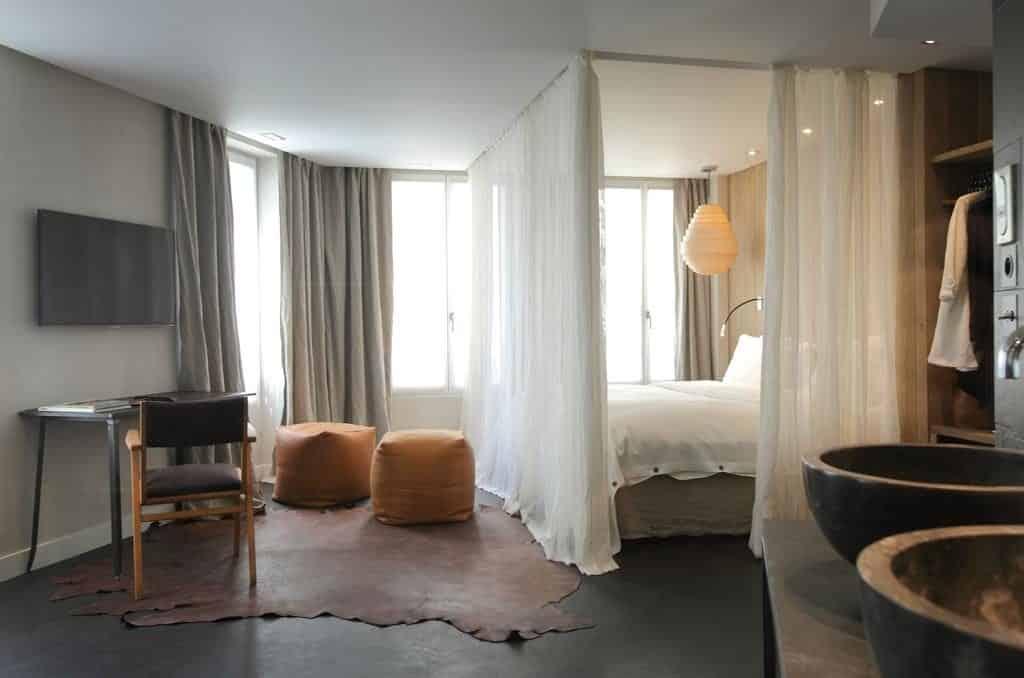 quarto do Hidden Hotel Paris