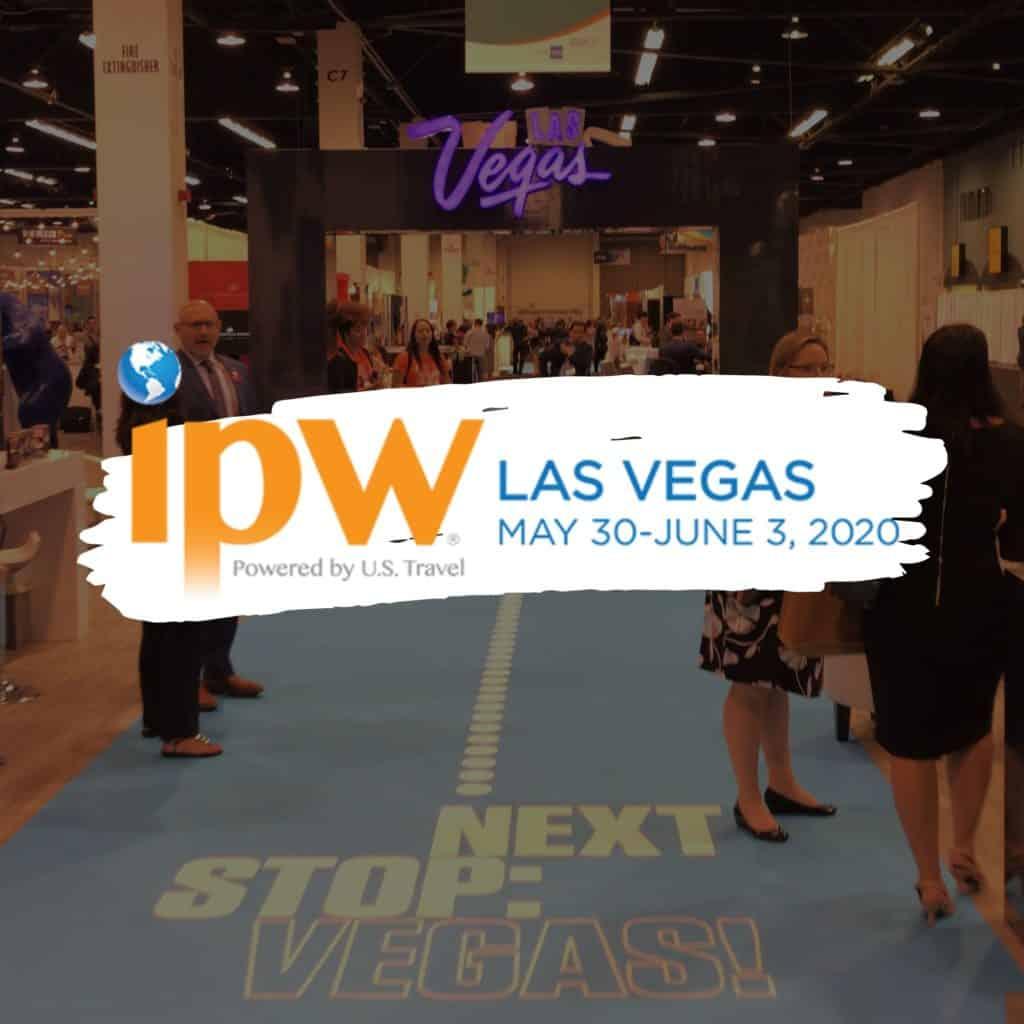 Montagem anunciando o próximo IPW, que em 2020 acontecerá em Las Vegas, Nevada