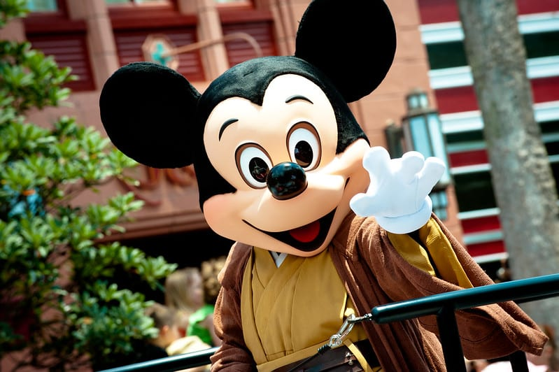 Mickey no Hollywood Studios da Disney, durante festa comemorativa de Star Wars