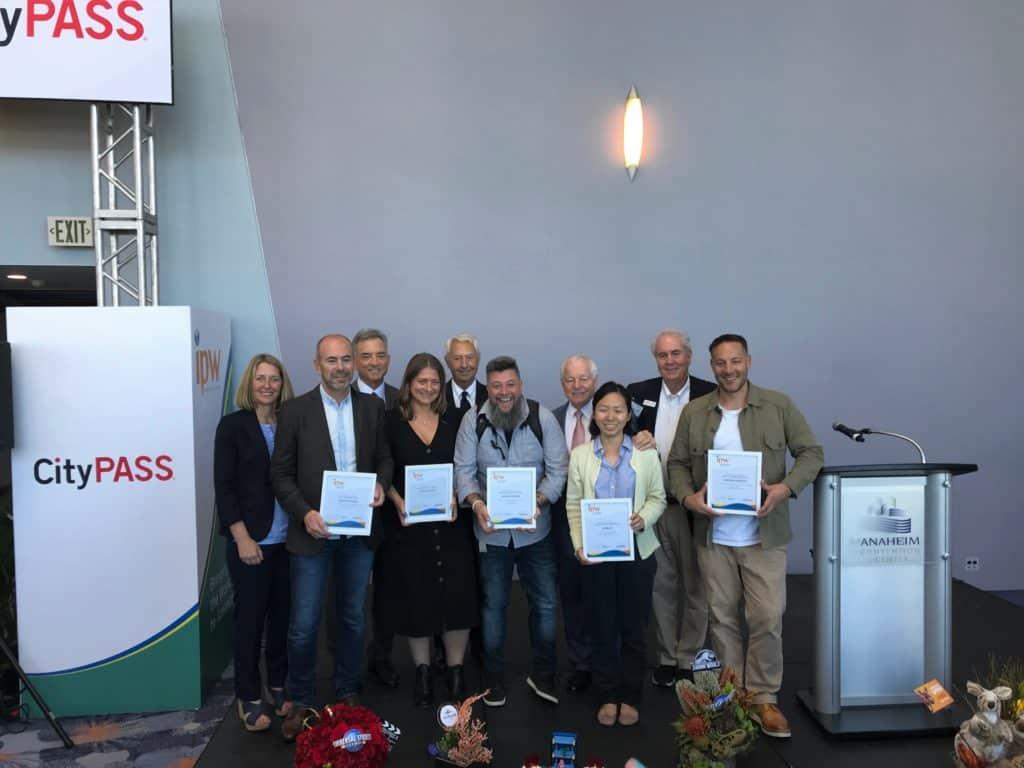 Luciano Palumbo, comissão do IPW 2019 e os demais premiados do IPW Travel Writer Awards