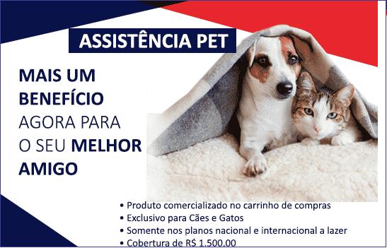 Banner de divulgação do plano de seguro viagem para pets, da GTA