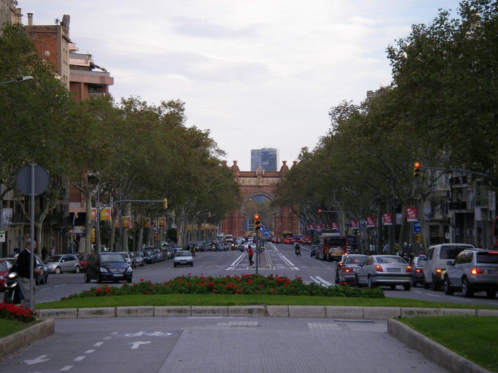 Parte de Las Ramblas Barcelona