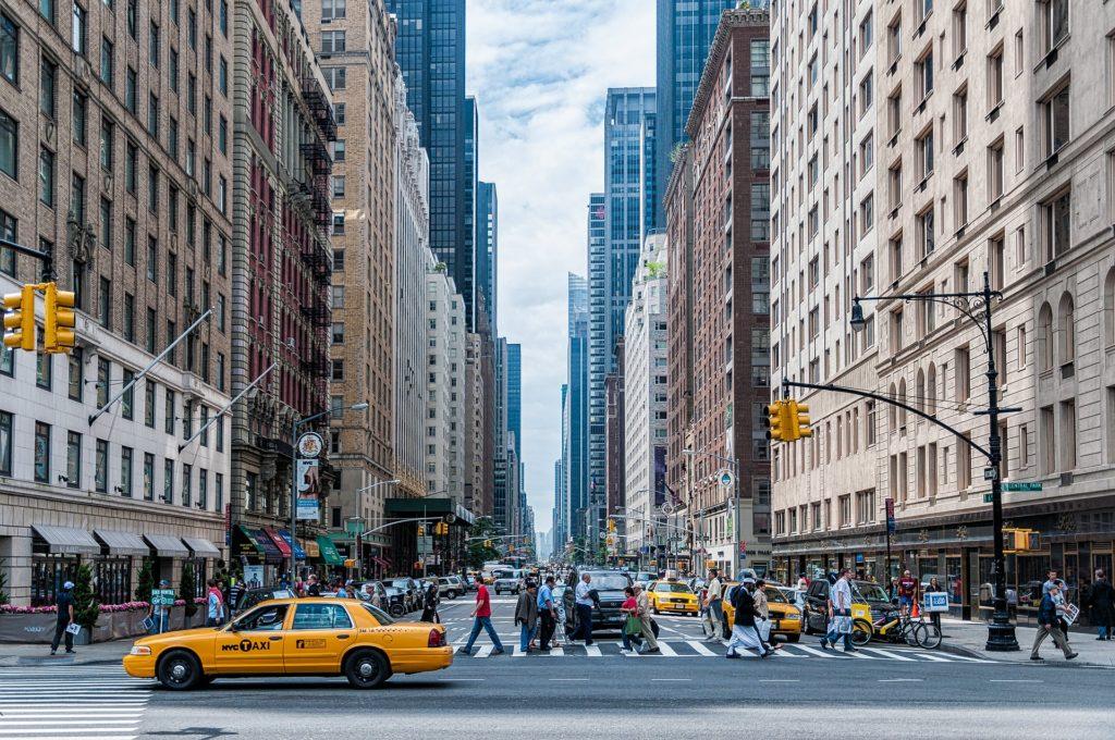 As ruas da cidade de New York