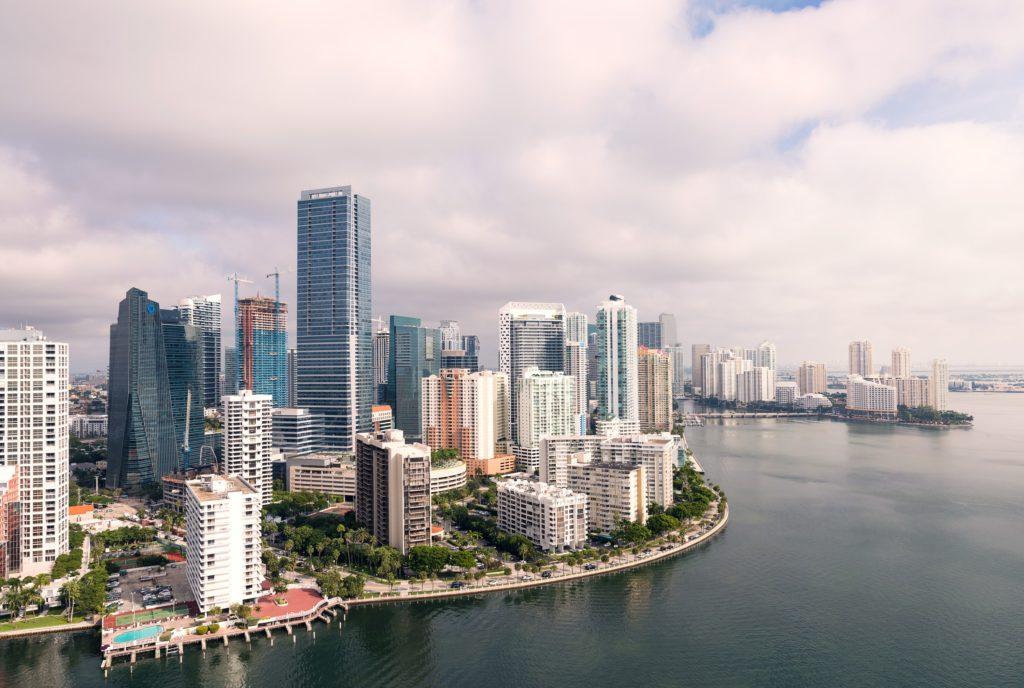 foto aérea de Miami na Flórida