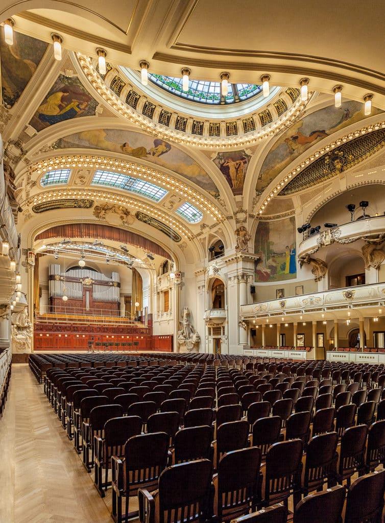 A Sala de Smetana na Casa Municipal de Praga