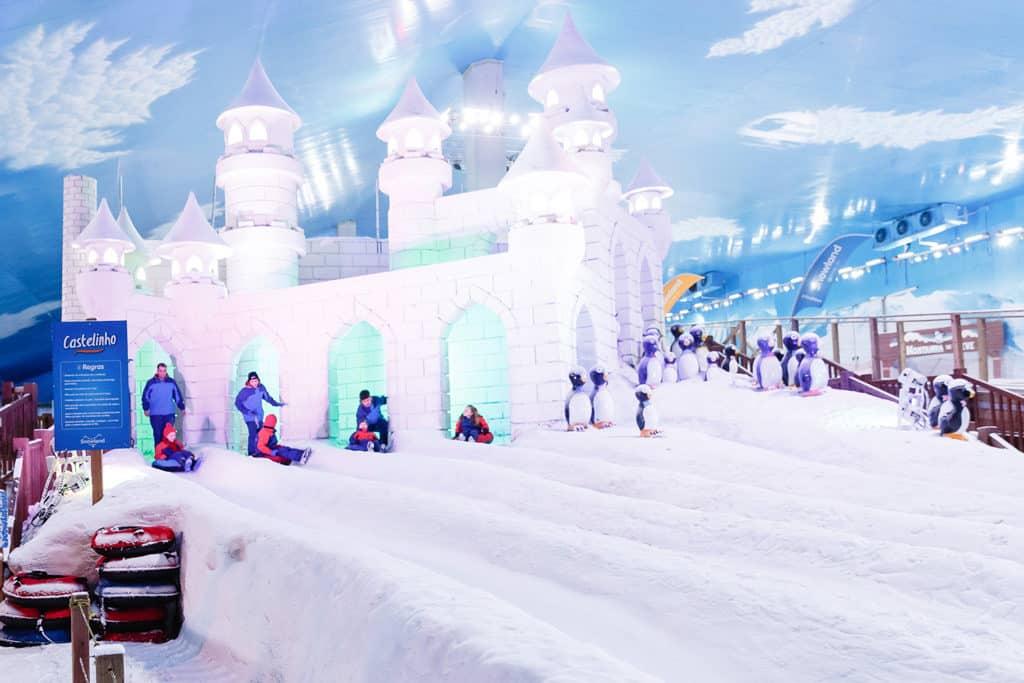 Uma das atrações da Snowland - Pontos turisticos Gramado