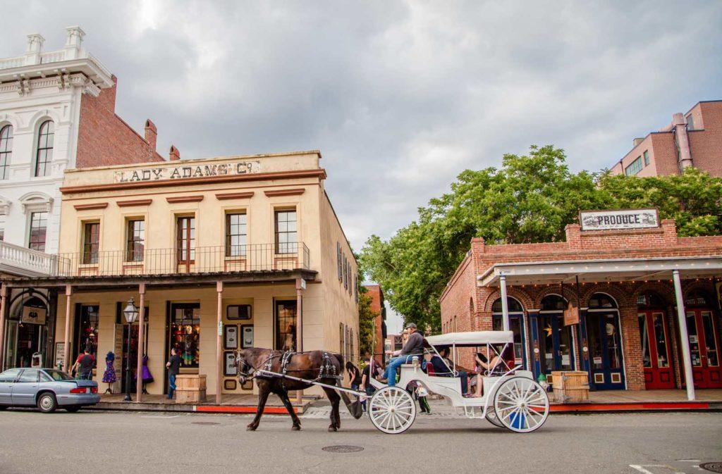 Foto de prédios históricos em Old Sacramento