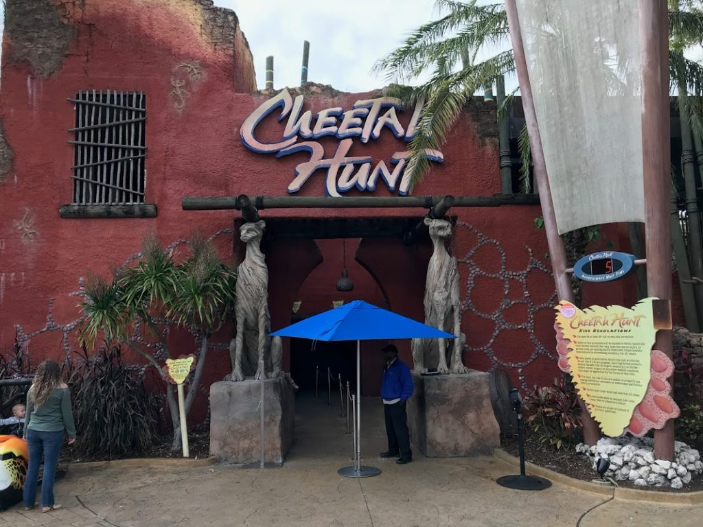 Entrada da Montanha russa Cheetah Hunt no Busch Garden