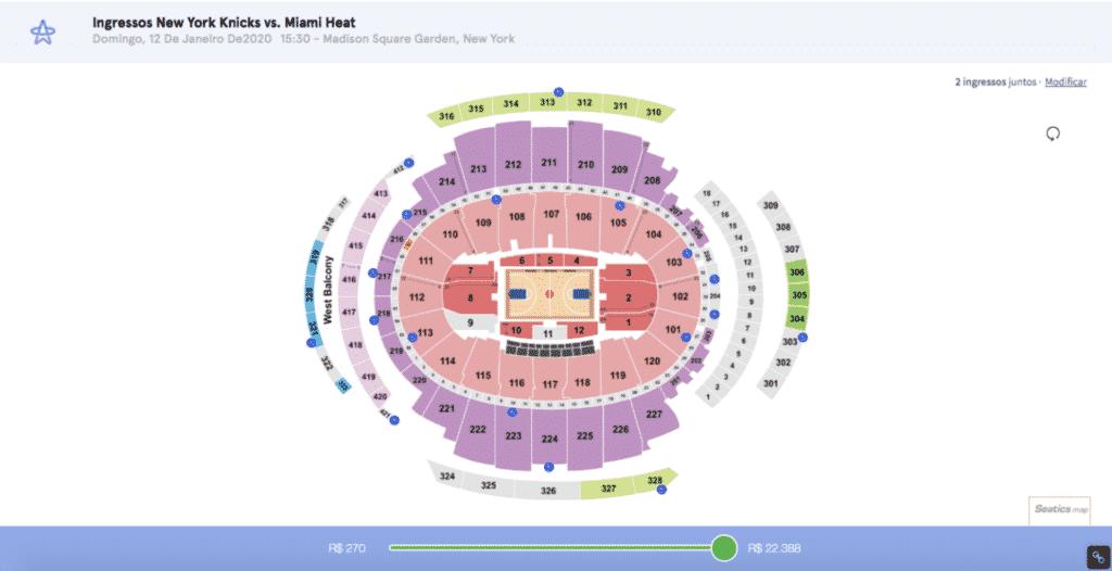 como comprar ingresso para NBA