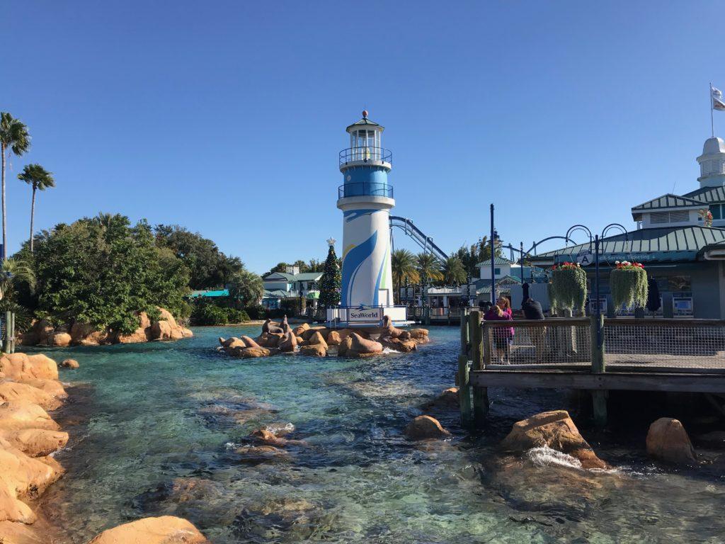Entrada do Parque SeaWorld em Orlando - - Foto: Flávio Antunes