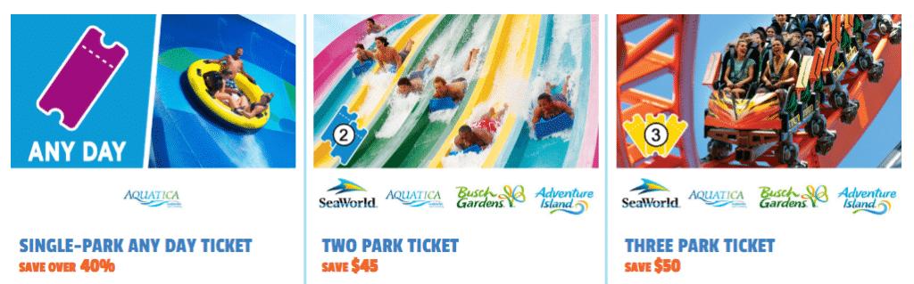 Print da página de venda de ingressos do site oficial da Aquatica