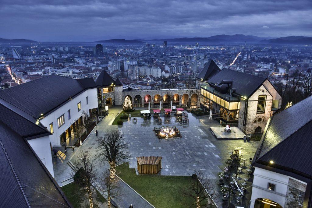 Castelo de Liubliana, a capital da Eslovênia