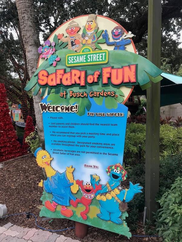 O Safari for Fun, especialmente para as crianças com tema da Vila Sésamo - busch gardens tampa
