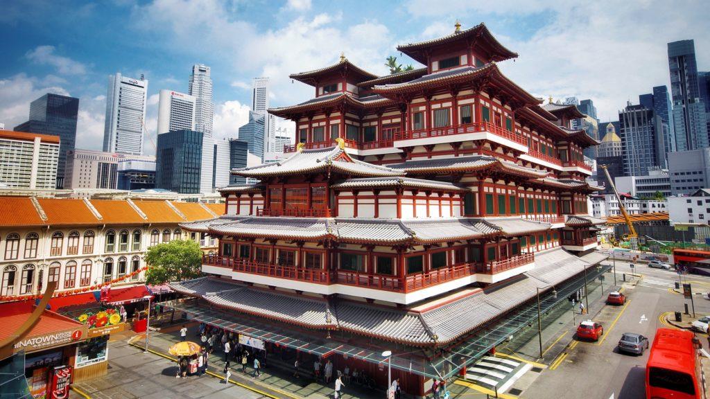 A Buddha Tooth Relic Temple em Singapura