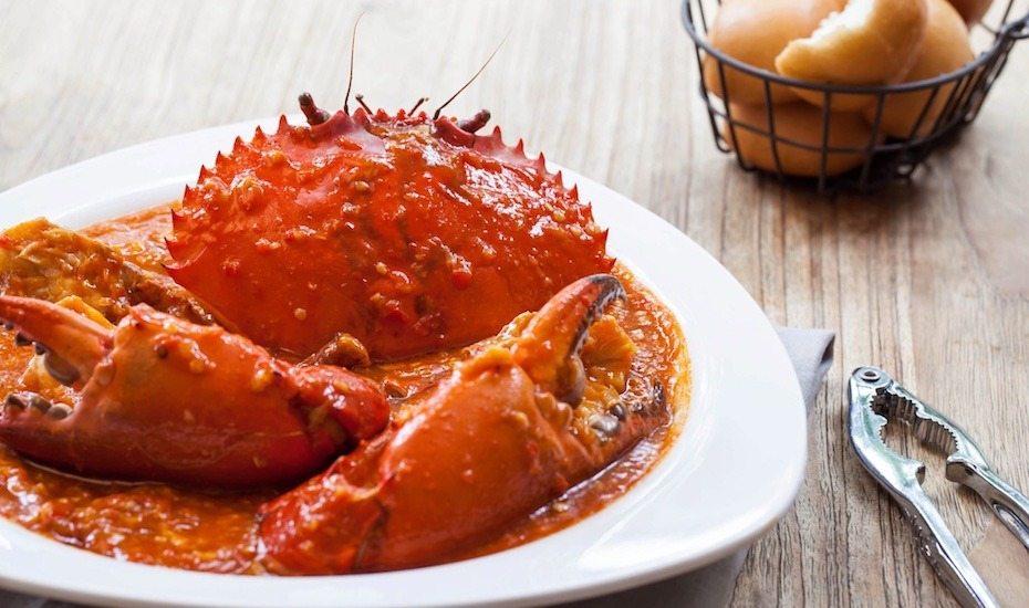 O tradicional Chilli Crab