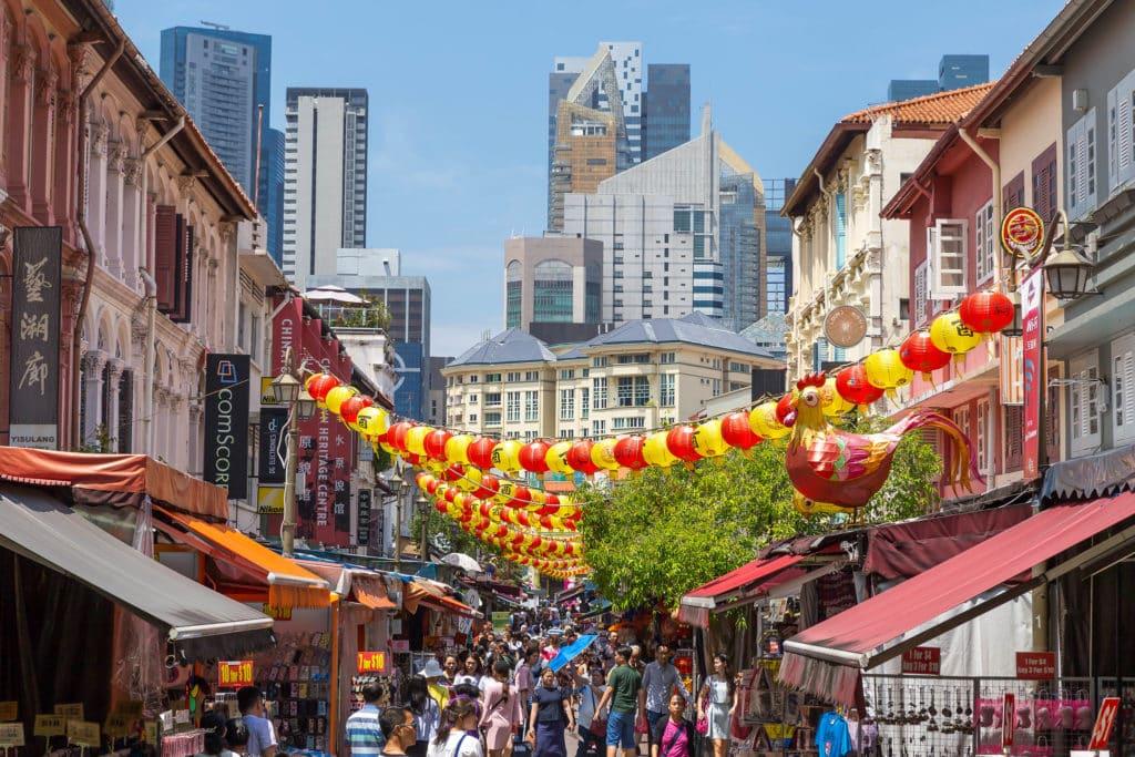 Um das ruas de ChinaTown em Singapura - Foto: Marco Verch via Flickr - pontos turísticos de Singapura