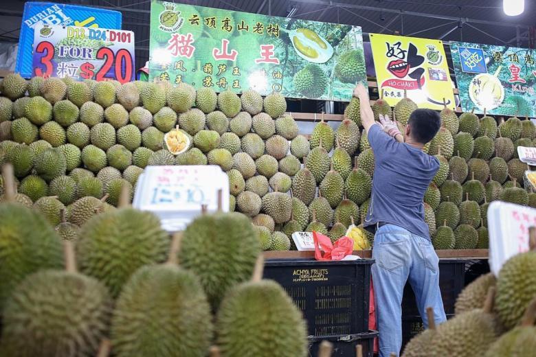 Durian, a famosa fruta de Singapura