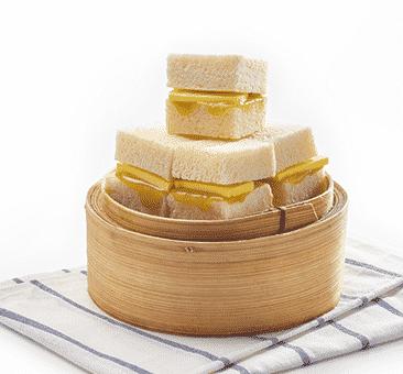 O tradicional pãozinho com kaya no Ya Kun Kaya Toast