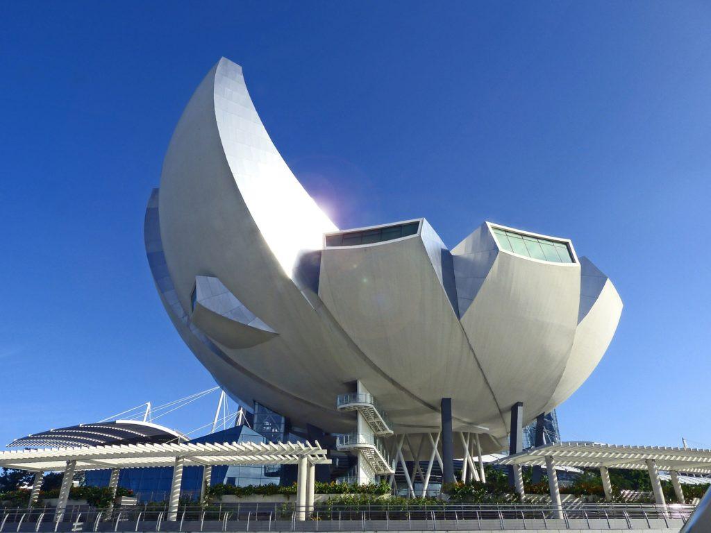 O icônico Museu de Arte e Ciência de Singapura