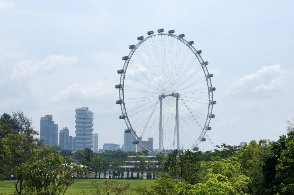A Singapore Flyer, uma das maiores rodas gigantes