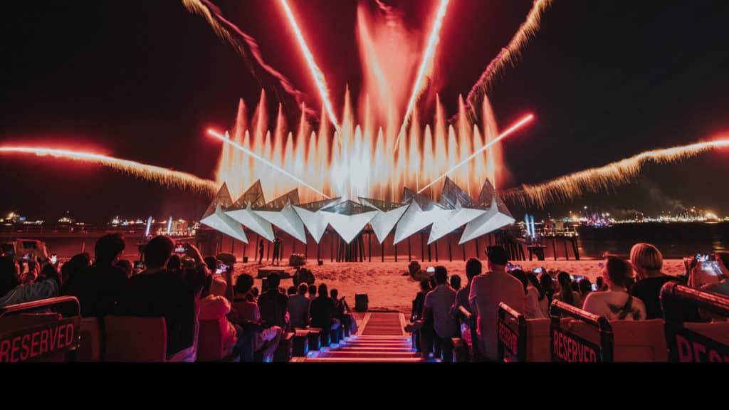 O show Wing of Time em Sentosa - finalize seu dia com esse incrível espetáculo - Foto: Sentosa Oficial