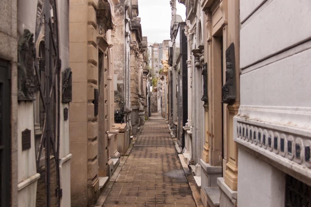 ruas do cemiterio recoleta