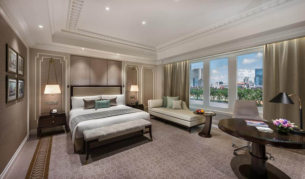 Quarto do The Fullerton Hotel Singapore