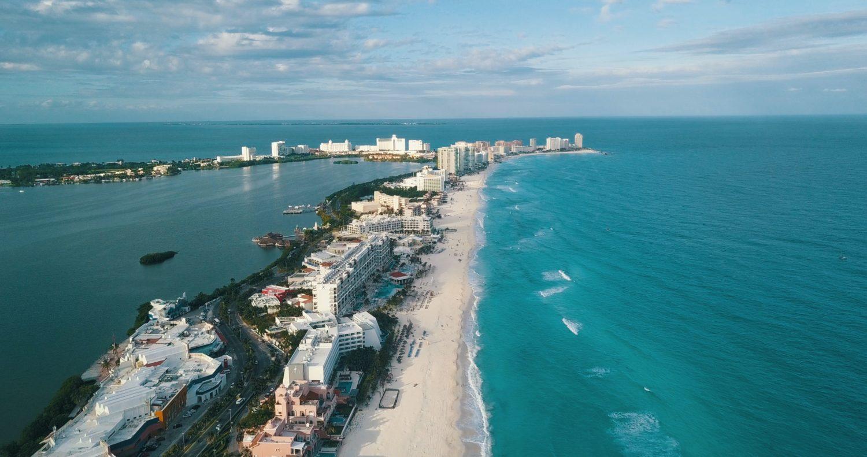 vista aerea de cancún no méxico