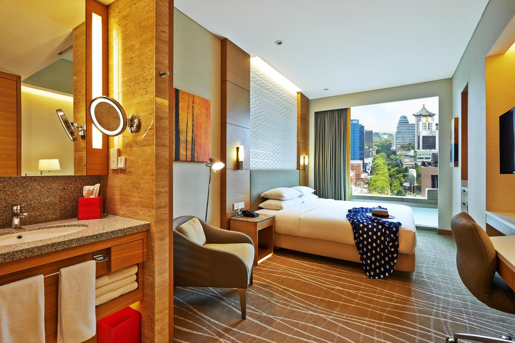 Quarto casal do Hotel Jen by Shangri-al - hotéis 5 estrelas singapura