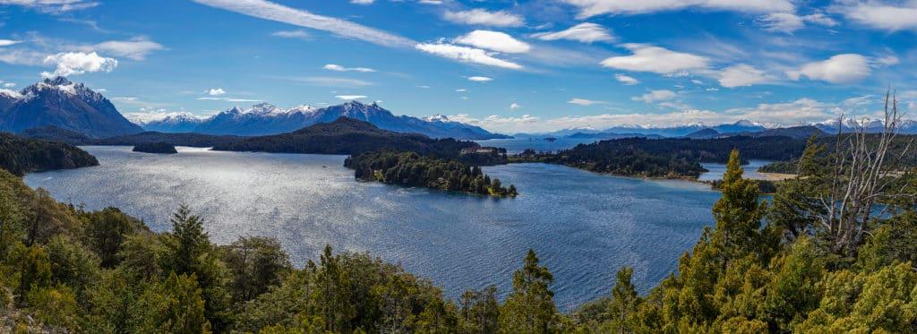lago nahuel huapi em bariloche como um dos pontos turisticos argentina