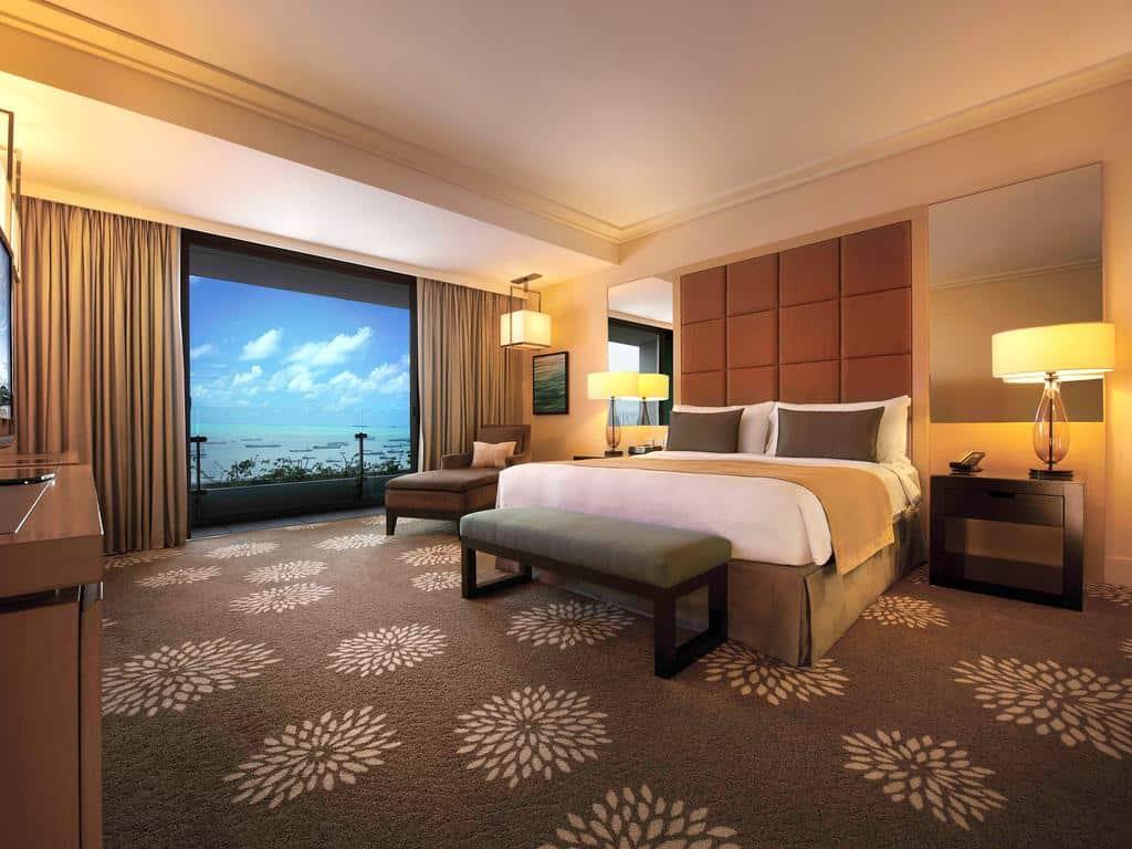 hotéis 5 estrelas singapura - Quarto casal do Marina Bay Sands - hotéis 5 estrelas singapura