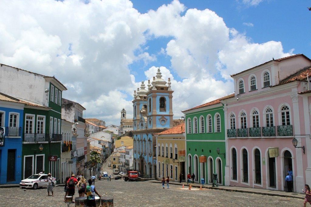 Casinhas coloridas do Pelourinho, em Salvador, na Bahia