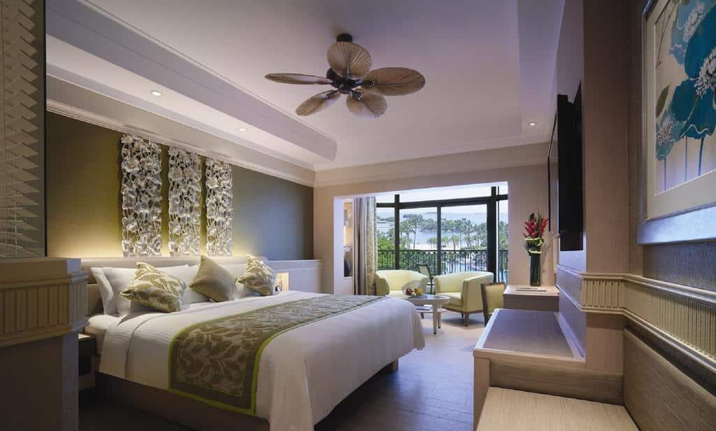 Quarto do Shangri-La's Rasa Sentosa Resort & Spa - hotéis 5 estrelas singapura