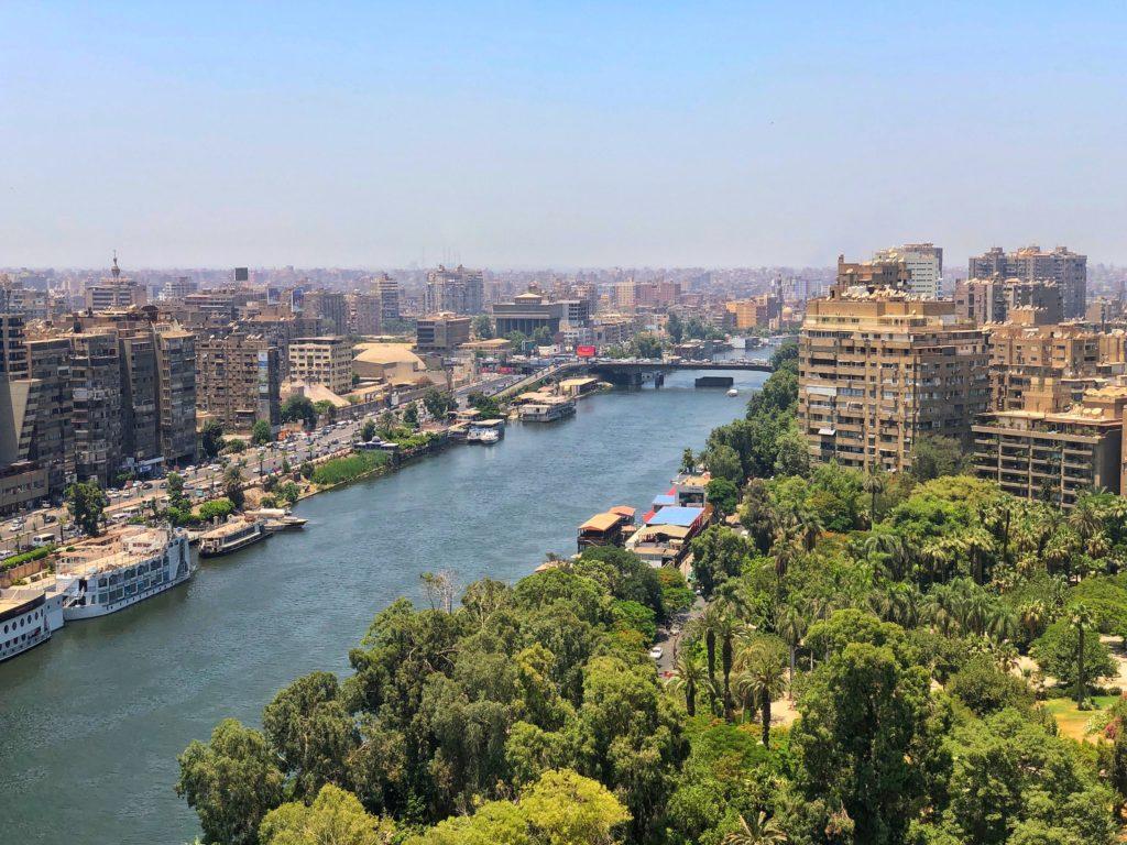 vista aerea da cidade do cairo no egito