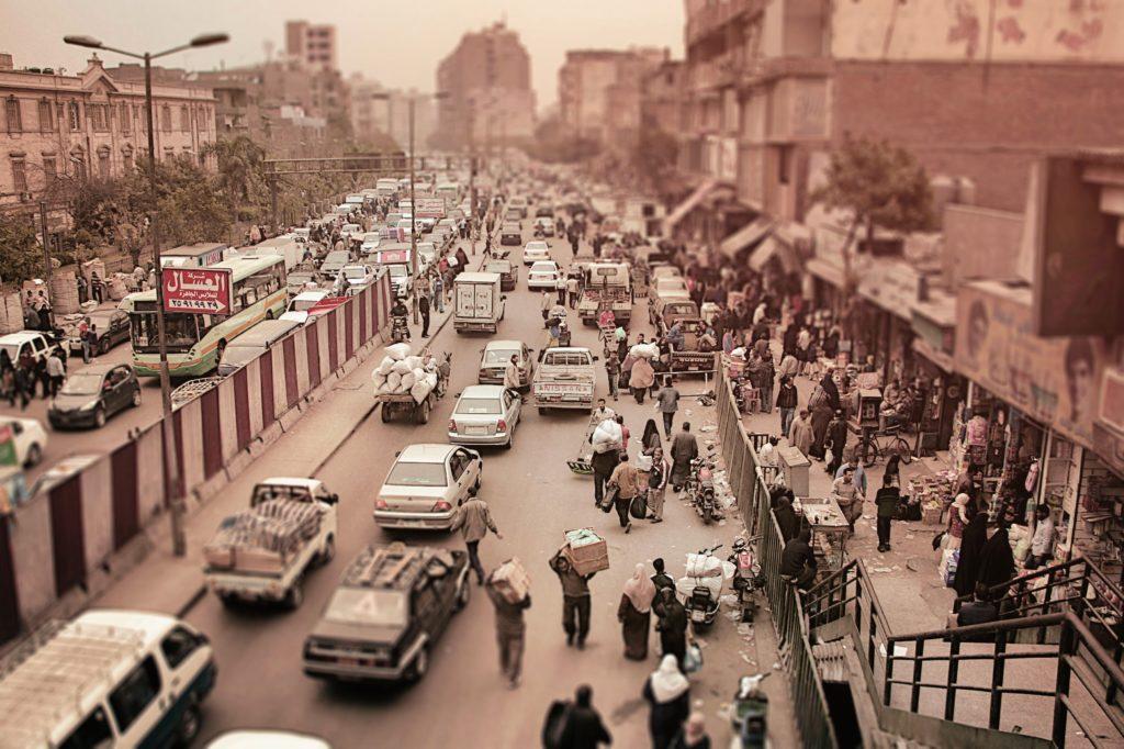 ruas da cidade do cairo, no egito