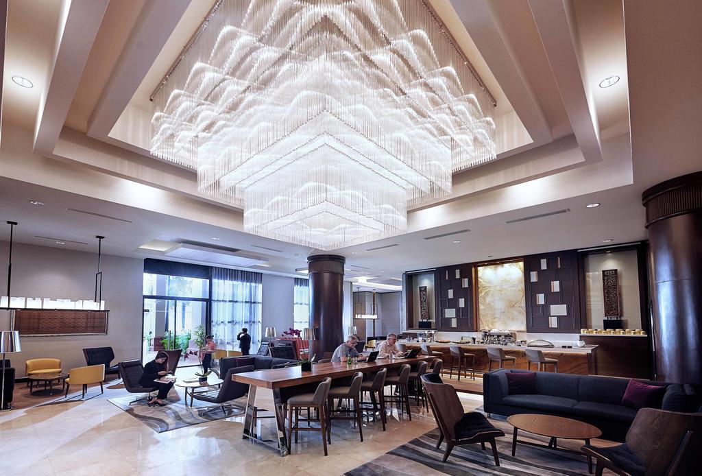Lobby Swissotel Merchant Court - melhores hotéis 5 estrelas em Singapura