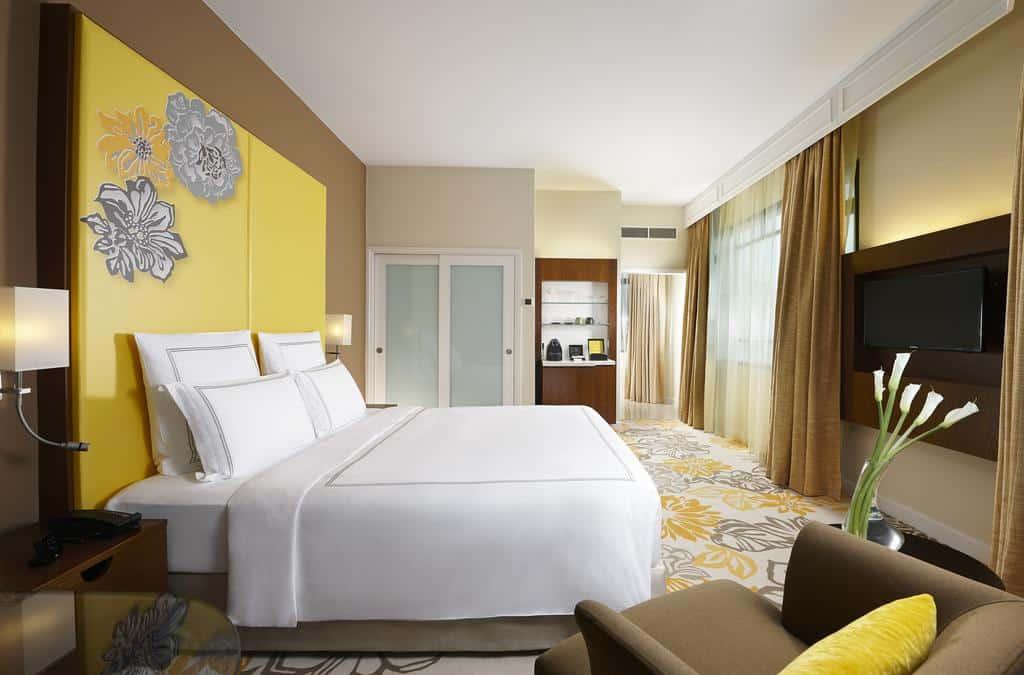 Quarto do Swissotel Merchant Court - melhores hotéis 5 estrelas em Singapura