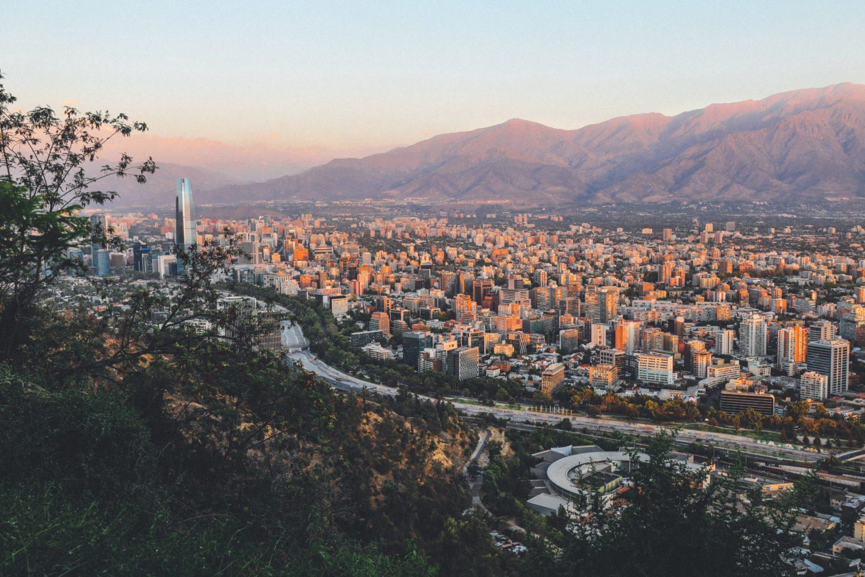 foto aerea da cidade de santiago