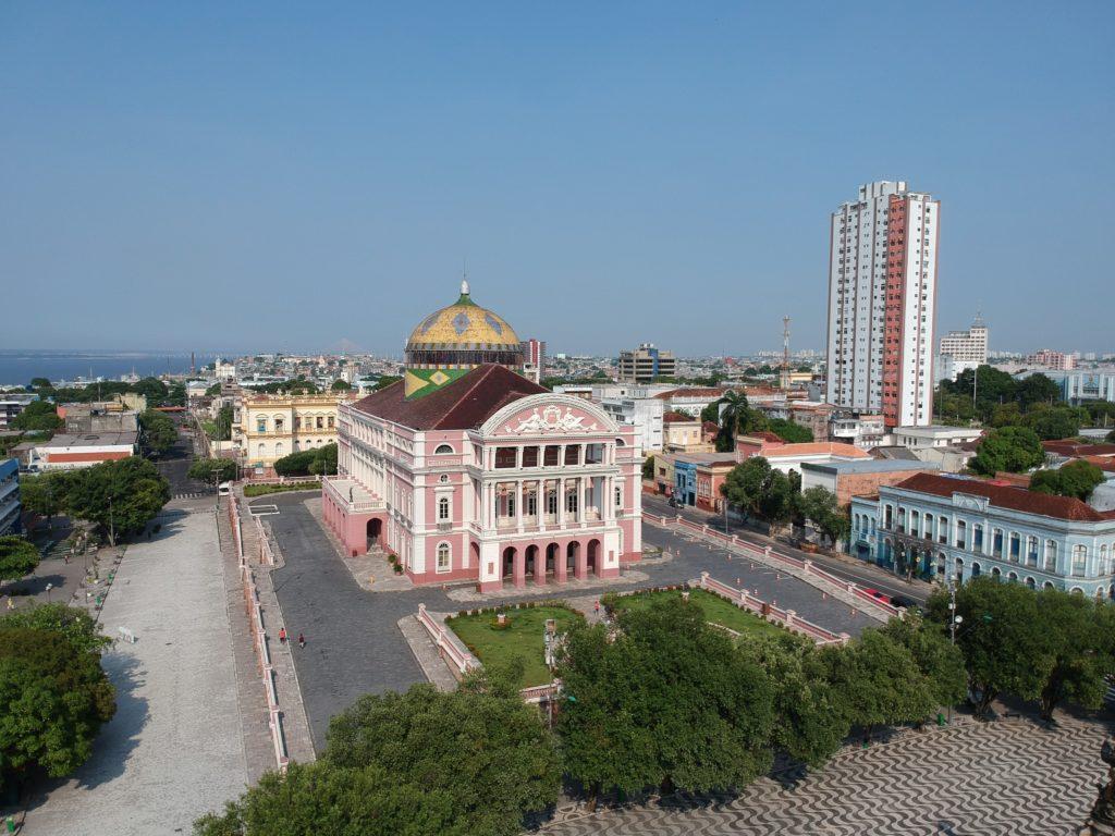 Teatro Amazonas em Manaus visto de cima