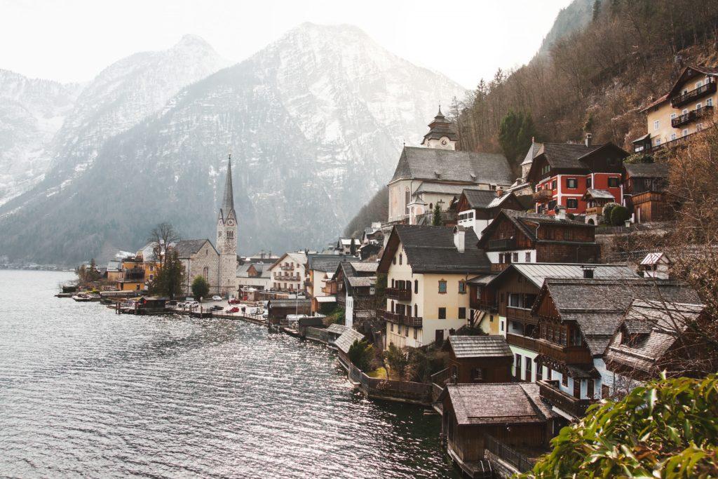 Cidade de Hallstat, na Áustria