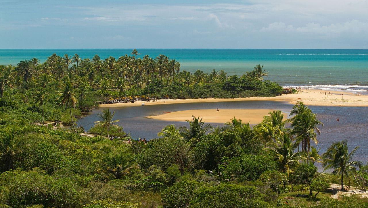 Foto de Caraíva, na Bahia