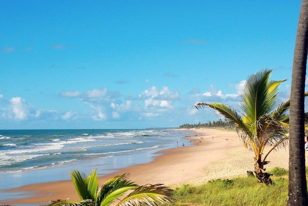 Orla na Costa do Sauípe, na Bahia