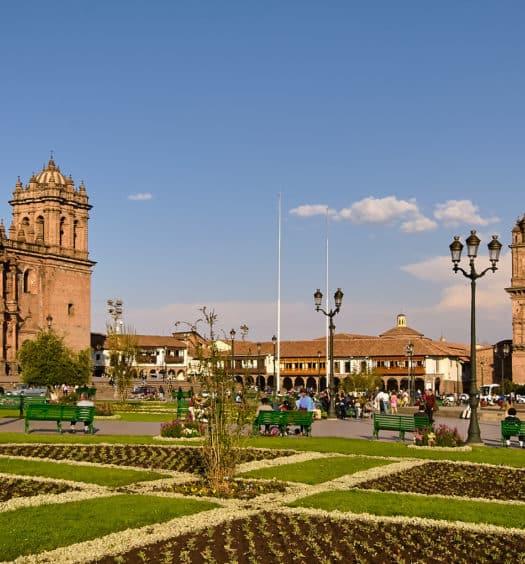 Praça central em Cusco