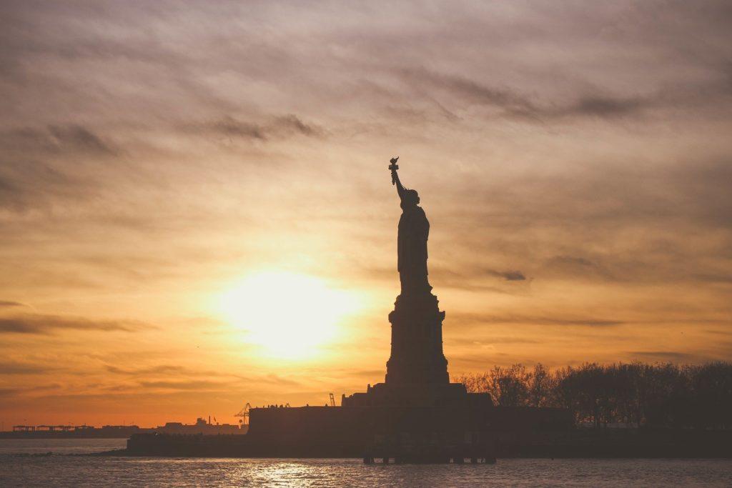 A Estátua da Liberdade, um dos símbolos dos Estados Unidos