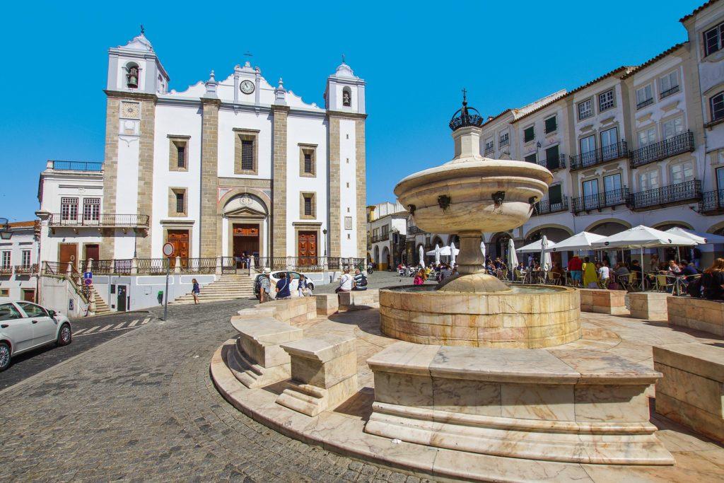 Centro de Évora em Portugal
