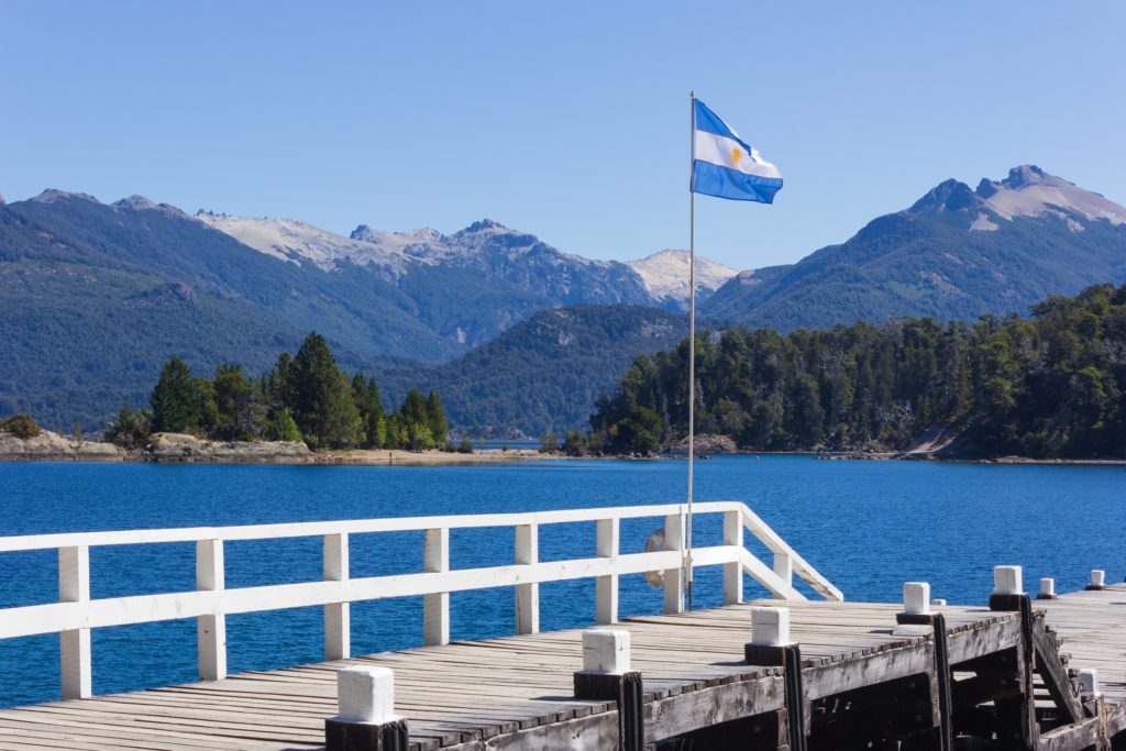 vista das montanhas de bariloche na argentina
