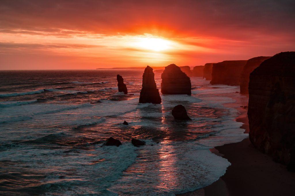 paisagem das rochas doze apóstolos em Victoria, Austrália