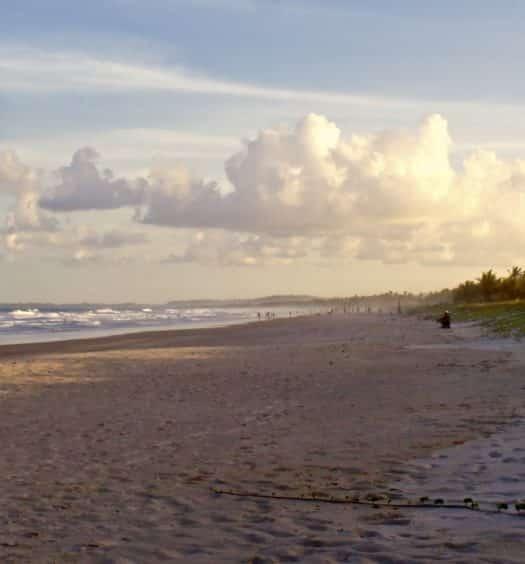 Praia em Ilhéus na Bahia
