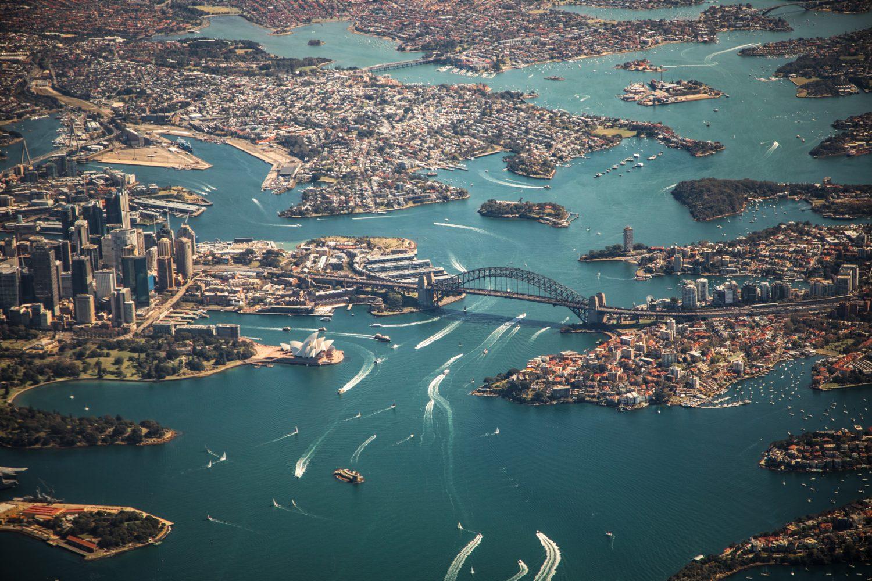vista aerea de sydney na austrália